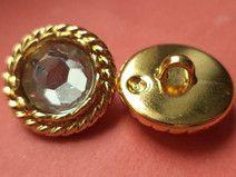 3 STRASSKNÖPFE gold 19mm (6463)Knöpfe Jackenknöpfe