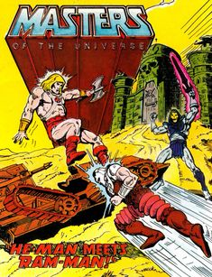 """The """"He-Man Meets Ram-Man"""" mini-comic included with some """"Masters of the Universe"""" toys"""