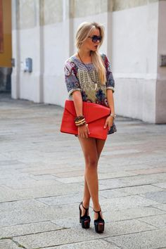 Red Oversized Clutch July 2017