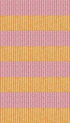 Hampton Indoor/Outdoor PVC Rug - Orange, Pink, and Cream