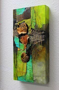 "CAROL NELSON FINE ART BLOG: Mixed Media Contemporary Forest Abstract, ""Fallen 2"" by Colorado Mixed Media Abstract Artist Carol Nelson"