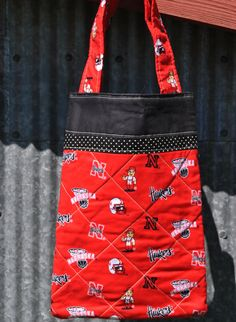 Shop for on Etsy, the place to express your creativity through the buying and selling of handmade and vintage goods. Small Tote Bags, Nebraska, Pouches, Polka Dots, University, Reusable Tote Bags, Trending Outfits, Unique Jewelry, Handmade Gifts