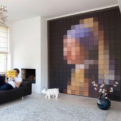 Pixel Mural: Jan Vermeer's Girl with Pearl earring