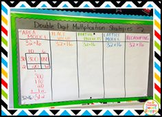 Double Digit Multiplication - Planning My Progressive Anchor Chart