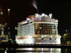 Norwegian Getaway leaving shipyard Keppel Verolme submitted by Facebook Fan Richard Telder.