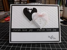 Heart wedding card - change in color & sentiment would also be good for Vanentine's day