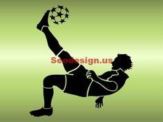 grunge football soccer player vector illustrations #soccer #illustration #vector