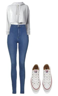 """""""Simple"""" by aaliyahsalmon ❤ liked on Polyvore featuring Yves Saint Laurent and Converse"""