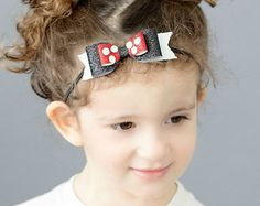 MInnie bow Mouse bow headband or clip by muffintopsandtutus
