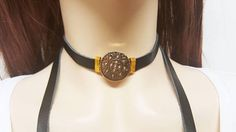 ON SALE Long Lariat Necklace Black Lariat Necklace Leather