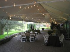 Reception setup and centerpieces by Buttercup for the Tyler Arboretum Open House