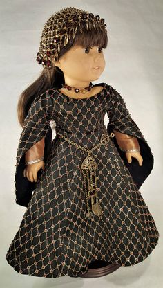 18 Doll Clothes Medieval Dress with Headdress