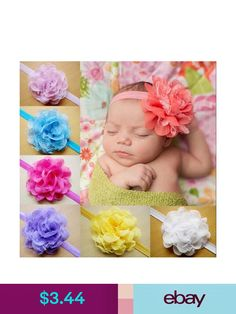 Aggressive Baby Toddler Girls Pink Floral Bowknot Hairband Turban Headband A Great Variety Of Models Hair Accessories Baby Accessories