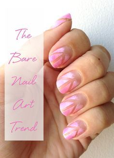 Bare nail art: this pink manicure is perfect for day-to-day. Try out this cute DIY mani at home!