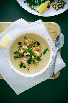 roasted cauliflower + onion soup - The First Mess // healthy vegan recipes for every season