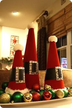 50 DIY Santa Christmas Decoration Ideas – I love Pink