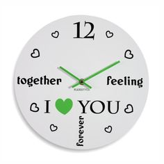 Okrúhle hodiny do detskej izby bielej farby Clock, Feelings, Watch, Clocks