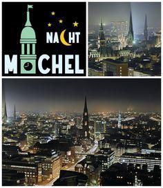 Diese wundervolle Stadt! Und wie sie noch viel schöner wird, wenn man von oben auf all die bunten Lichter hinabschaut. Es ist mal wieder an der Zeit den Michel in der Nacht zu besteigen. Der Sommer macht's möglich! An bestimmten Tagen könnt ihr auch am Abend den Kirchturm beklimmen. Und so ein Abend ist definitiv heute!