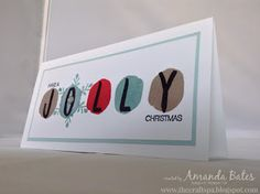 The Craft Spa - Stampin' Up! UK independent demonstrator : Christmas Layered Letters Alphabet - JOLLY