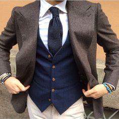 Great waist coat and man jewlery