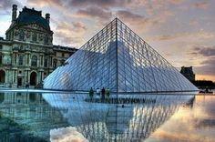 1983 ARCHITECT LEOH MING PEI PYRAMIDE DU LOUVRE PARIS #architecture #leohmingpei #france #paris