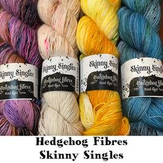 Skinny Singles Wool Yarn, Knitting Yarn, Hedgehog Fibres, 2018 Color, Finger Weights, Hand Dyed Yarn, Project Yourself, Fiber, How To Apply