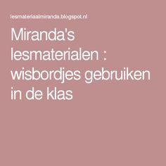 Miranda's lesmaterialen : wisbordjes gebruiken in de klas