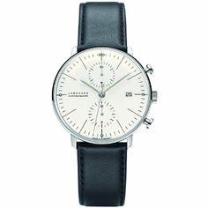 Junghans Max Bill Chronoscope 027/4600.00 - Reloj cronógrafo automático para hombre, correa de cuero color negro (cronómetro): Amazon.es: Re...
