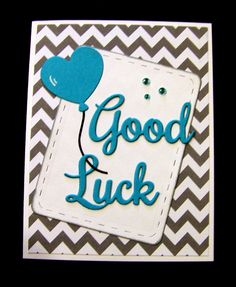 Balloon good luck card - Scrapbook.com