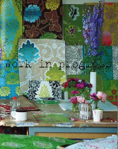 the DG studio - Image take from Tricia Guilds' 'Pattern' book via Designers Guild