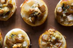 Blue Cheese and Pear Puff Pastry Bites | http://saltandwind.com
