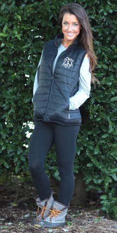 Monogrammed Lightweight Puffer Vest at Marleylilly.com!