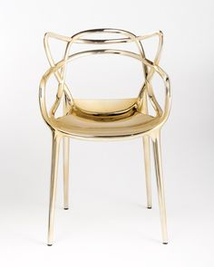 Gold Kartell Philippe Starck Masters Chair - Love this too.  A plastic chair made to look metal.  COCOCOZY: GOLD THINGS - RANDOM STUFF I'M LIKING RIGHT NOW 3.27.14