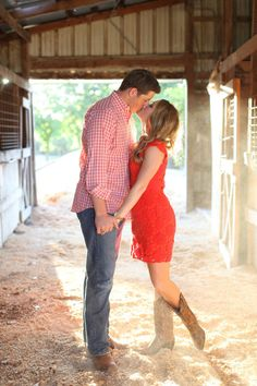 Red 'matching' and cute cowboy boots