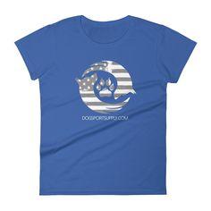 Dog Sport Supply Company - Women's Patriotic T-Shirt Grey Logo