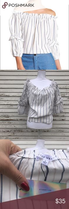 After market off the shoulder top NWT. Questions and offers welcome! after market Tops Blouses