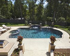 Roman End Gunite Concrete In Ground Swimming Pool From Prestige Pools And Spas