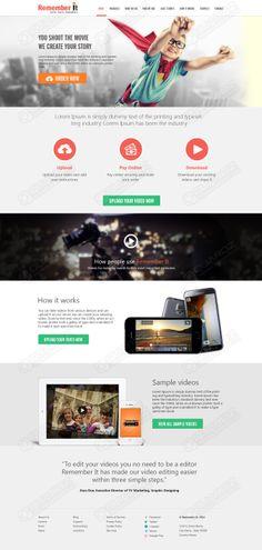 Remember It website design