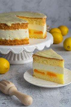 Fancy Cakes, Cakes And More, Vanilla Cake, Cheesecake, Lemon, Sweets, Cooking, Food, Cup Cakes