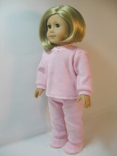 18 Inch Doll Clothes American Girl Pink Thermal by terristouch