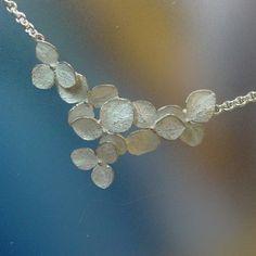 Flower Necklace Hydrangea Cluster Necklace by PatrickIrlaJewelry
