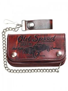 """Old Speed"" Men's Wallet by Lucky 13 Apparel"