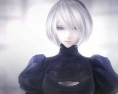 An image of 2B from Nier Automata - No blindfolds.