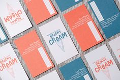 13 Insanely Cool Business Cards #refinery29  http://www.refinery29.com/unique-business-cards#slide9  Design Womb created these cards for Beachy Cream, a Malibu ice cream shop. Cards that are as lovely as the shop itself? Check. We're in love the old-fashioned vibe, the adorable design, and fun, summery colors.