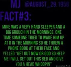 This is adorable and Michael had insomnia.