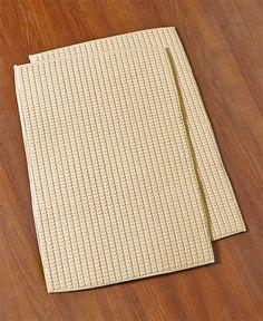 Kitchen Towel Set Dish Drying Mat Set Microfiber Brown Red Taupe