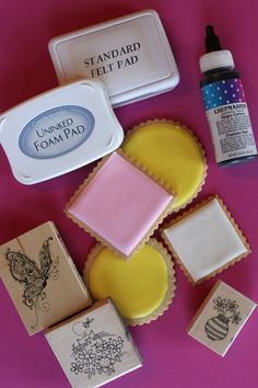 decorated Easter cookies, Julia M usher, rubber-stamping cookies