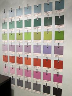 Pantone Wall/Place Card Ideas