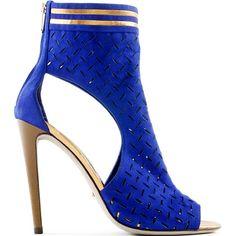 Sergio Rossi perforated suede sandal