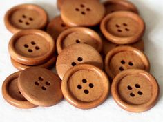 10 Light Rusty Brown Wooden Buttons  25mm 1 by SuppliesSundries